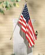 Eastside Awning carries American  flags in many sizes and the flag poles  to hang them.